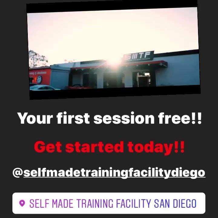 Come down to Self Made Training Facility and get your workout in, 1st person to DM me will receive one